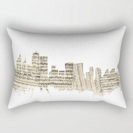 Sydney Australia Skyline Sheet Music Cityscape Rectangular Pillow