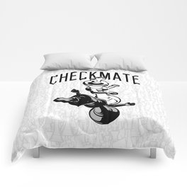 Checkmate Punch Funny Boxing Chess Comforters
