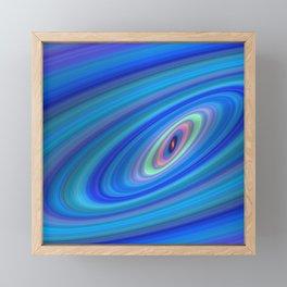 Blue Space Framed Mini Art Print