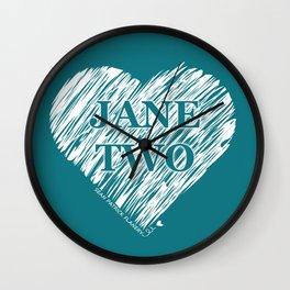 Heart Jane Two Wall Clock