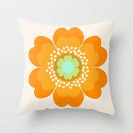 Jivin' - 70's retro throwback art floral flower motif decor hipster Throw Pillow