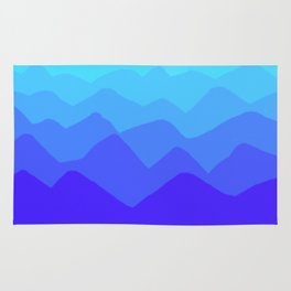 Periwinkle Mountain Pattern Rug