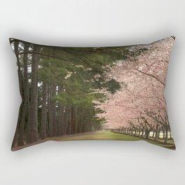 Cherry Blossom Row Rectangular Pillow