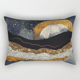 Metallic Mountains Rectangular Pillow