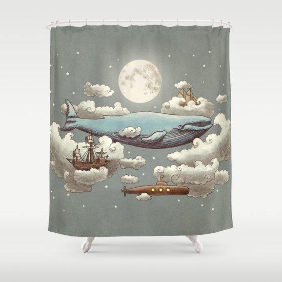 Ocean Meets Sky (original) Shower Curtain