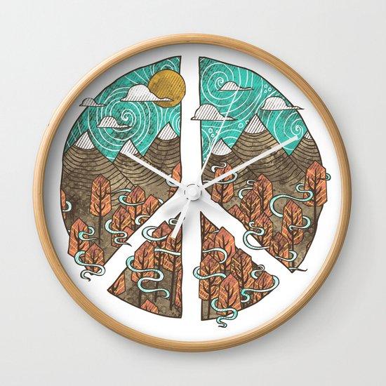 Peaceful Landscape Wall Clock