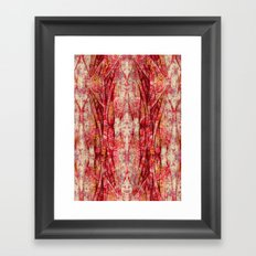 Ripped and Rosy Framed Art Print
