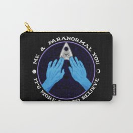 Me & Paranormal You - James Roper Design - Ouija (white lettering) Carry-All Pouch
