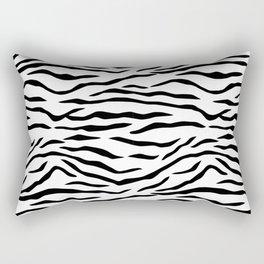 Black and White Tiger Stripes Rectangular Pillow