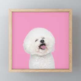 Laughing Puppy Framed Mini Art Print