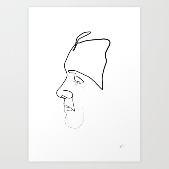 One Line Kevin Spacey Art Print