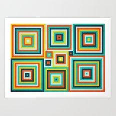 Be Squared! Art Print