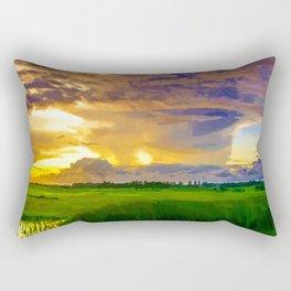 hurricane storm landscape digital oil painting akvop std Rectangular Pillow