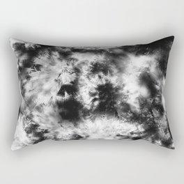 Black and White Tie Dye & Batik Rectangular Pillow