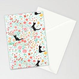 Lucky Cat Garden Stationery Cards