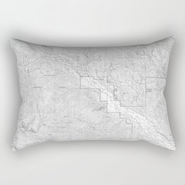 Methow Valley Topography - SeriousFunStudio Rectangular Pillow