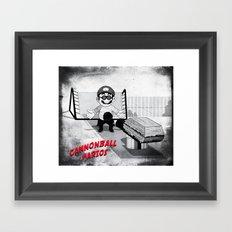 Cannonball Marios Framed Art Print