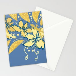 Samoan Orchid Sunset Polynesian Floral Stationery Cards