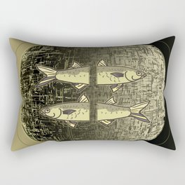 Planetary Mood 5b / Vertical Divergence 10-02-17 Rectangular Pillow