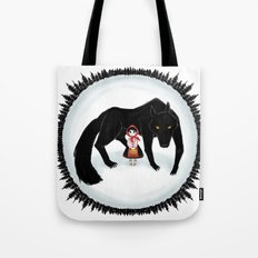 Little Red Riding Hood and the Big Bad Wolf Tote Bag