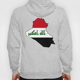 Iraq Map with Iraqi Flag Hoody
