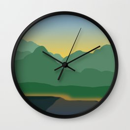 Twilight on Silverthorne Wall Clock