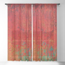 Figuratively Speaking, Abstract Art Sheer Curtain
