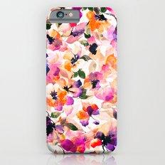 Chic Floral Pattern Pink Orange Pastel Watercolor iPhone 6 Slim Case