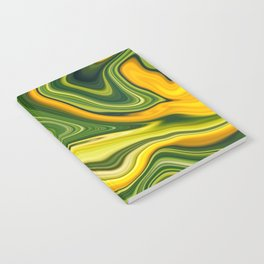 Sunny green marble Notebook