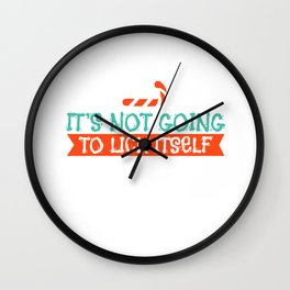 Candy Cane Licking Xmas Blisters Sexy Gift Wall Clock