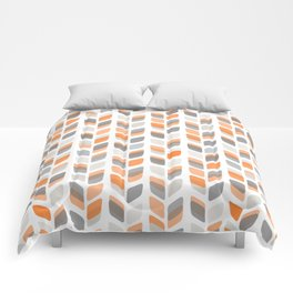 Modern Rectangle Print with Retro Abstract Leaf Pattern Comforters