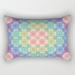 Mandala Patchwork Rectangular Pillow