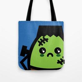 Creepy Egg Frankenstein - Halloween Tote Bag