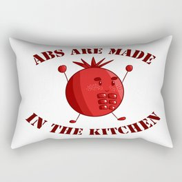 Six-Pack Tomato - Abs are made in the Kitchen Rectangular Pillow