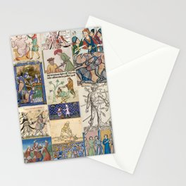 People Getting Stabbed in Medieval Manuscripts Stationery Cards