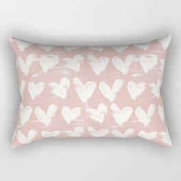 Hearts-Rose Rectangular Pillow