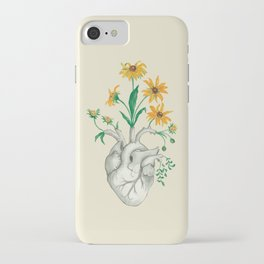 Floral Heart: Sunflower Human Anatomy iPhone Case