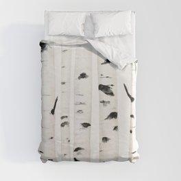 birch  watercolor Duvet Cover