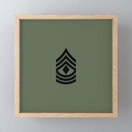 1st Sergeant (Green) Framed Mini Art Print