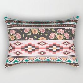 Floral Aztec Tribals Rectangular Pillow