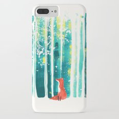 Fox in quiet forest iPhone 7 Plus Slim Case