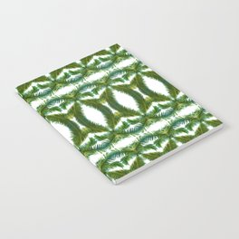 Palm Leaf Kaleidoscope (on white) #2 Notebook