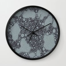 Black Bubbles  Wall Clock