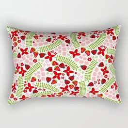 Lovely Ladybugs and Berries Rectangular Pillow