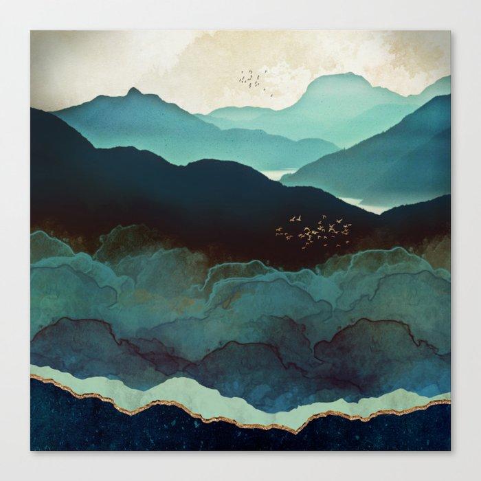 Indigo Mountains Leinwanddruck