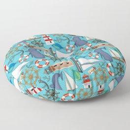 Nautical Goodies Floor Pillow
