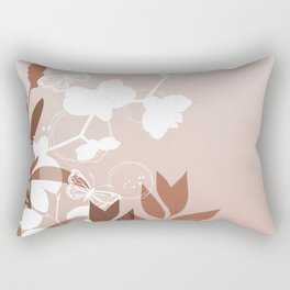 Botanicals and Butterfly Graphic Design Sherwin Williams Cavern Clay SW7701 Rectangular Pillow