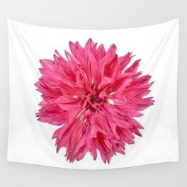 Pink Cornflower Wall Tapestry