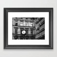 Prague 7:27 Framed Art Print