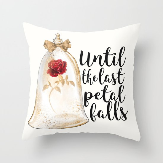 Until the last petal falls Throw Pillow